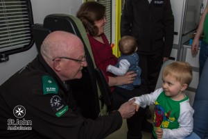 Charlie thanks Shay for his life-saving work on St Patrick's Day