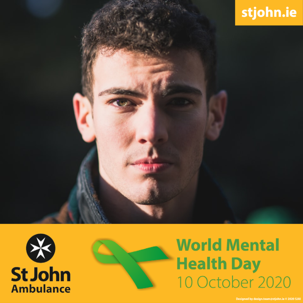 Picture of a man with the text World Health Day 10 October 2020